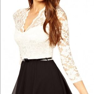 ASOS John Zack Lace Dress Size US:8, UK:12